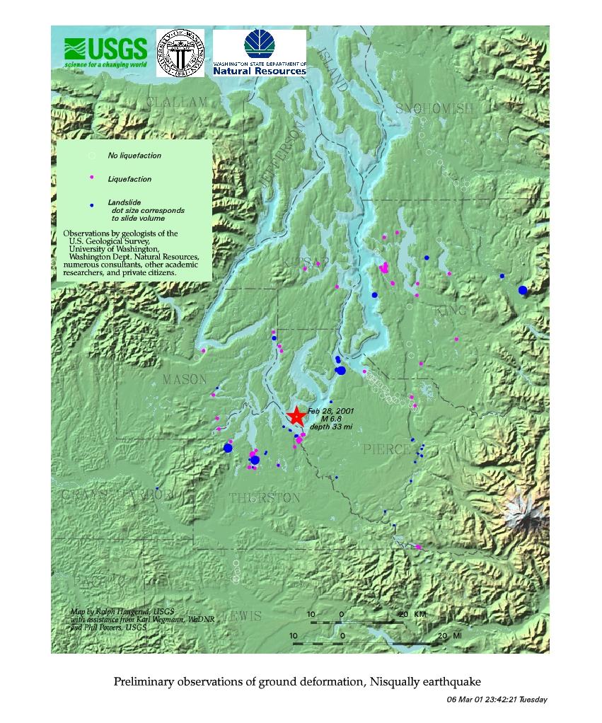FEBRUARY 28 2001 NISQUALLY EARTHQUAKE
