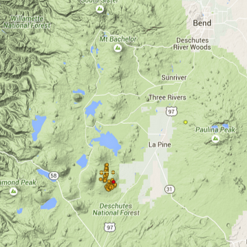 Unusual earthquake swarm south of Bend OR  Pacific Northwest